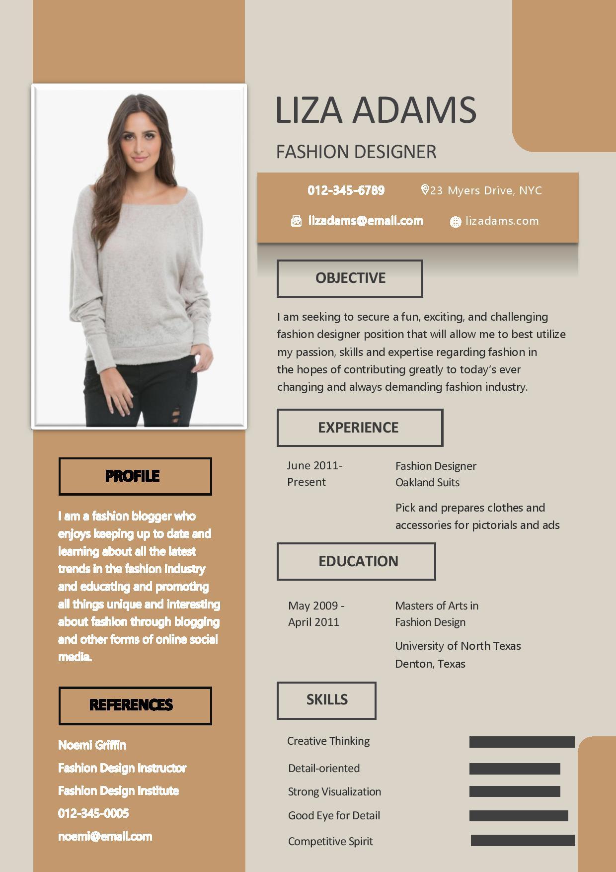 R D Fashion Designer Resume Resume Dream